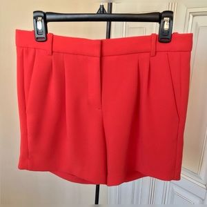J. Crew A2658 Red Crepe Shorts - 2